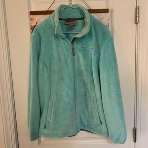 Teal fuzzy jacket